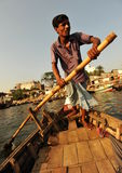 Dhaka city ferry. Small ferry boat are operating in old Dhaka across the Buriganga river Stock Image