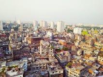 Dhaka von oben Lizenzfreie Stockfotos