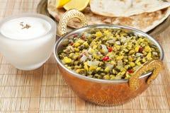 Dhal印地安素食食物 库存图片