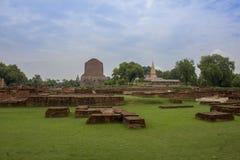Dhamek Stupa lizenzfreie stockfotografie
