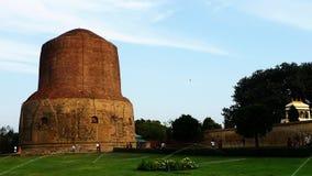 Dhamek Stupa dans Sarnath Photos libres de droits