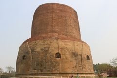 Dhamekh Stupa Στοκ εικόνα με δικαίωμα ελεύθερης χρήσης