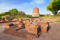Dhamekh Stupa ruins Royalty Free Stock Photos