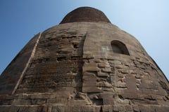 Dhamekh Stupa and ruins in Sarnath Stock Image