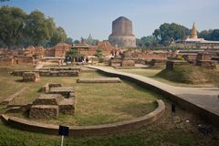 Dhamekha Stupa Sarnath Stock Foto