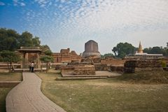 Dhamekha Stupa Sarnath Royalty Free Stock Photos