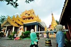 Dhamikarama Burmesetempel Arkivfoto