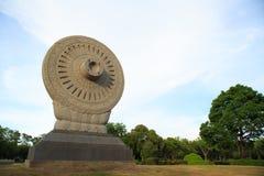 Dhamma轮子 库存图片