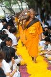 Dhammachai Dhutanga Pilgrimage Walk, 2013 in Bangkok Stock Photography