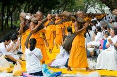 Dhammachai Dhutanga Pilgrimage Walk, 2013 in Bangkok Stock Image