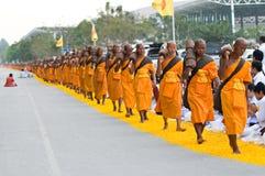 Dhammachai Dhutanga Pilgrimage Walk, 2013 in Bangkok Stock Photos