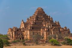 Dhammayangyi den största templet i Bagan, Myanmar arkivbilder