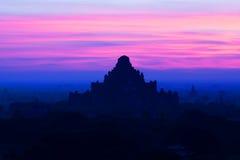 Dhammayangyi pagoda at sunset in Bagan Archaeological zone, Myanmar Royalty Free Stock Photos