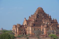 Dhammayangyitempel de grootste Tempel in Bagan, Myanmar stock afbeelding