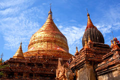 Dhammayazika塔在Bagan考古学区域,缅甸 免版税库存图片