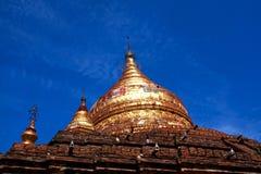 Dhammayazika塔在Bagan考古学区域,缅甸 免版税库存照片