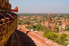 Dhammayazika temple at the archaeological site of Bagan Stock Images