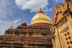 Dhammayzika tempel i Bagan Myanmar royaltyfri foto