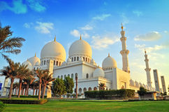 Sheikh zayed mosque, abu dhabi, uae, middle east. Outdoor shoot of Sheikh zayed mosque, abu dhabi, uae, middle east royalty free stock images