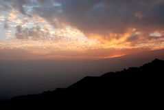 Dhanaulti穆索里Uttarakhand印度 库存图片
