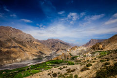 Dhankar Gompa. India. Spiti Dolina Obraz Royalty Free