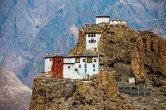 Dhankar Gompa. India. Spiti Dolina Zdjęcia Royalty Free