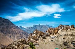 Dhankar Gompa. India. Spiti Valley Stock Photos