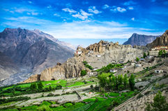 Dhankar Gompa l'Inde Vallée de Spiti photographie stock