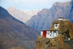 Dhankar gompa. Spiti Valley, Himachal Pradesh Stock Image