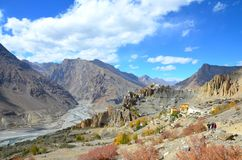 DHANKAR MONASTERY AT SPITI royalty free stock photos