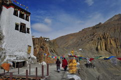 DHANKAR MONASTERY Stock Photo