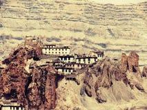 Dhankhar monasteru -Kaza Fotografia Royalty Free