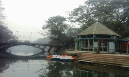 Dhanmondi jezioro Zdjęcia Stock