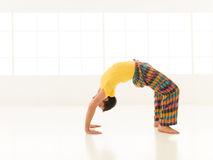 Dhanurasana pose Royalty Free Stock Photo