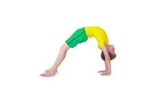 Dhanurasana yoga Royaltyfri Foto