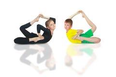 Dhanurasana yoga Stock Image