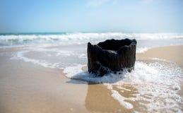 Dhanushkodi海滩 免版税库存图片