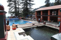 Dharamsala Bhagsunag swimming pool Royalty Free Stock Photography