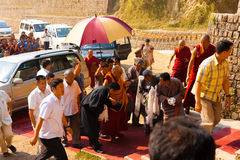 Dharamsala Dalai Lama Surrounded Entourage Royalty Free Stock Photos