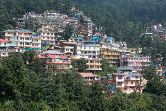 Dharamshala, India. Houses at Himalaya mountains in Dharamshala, India Stock Image