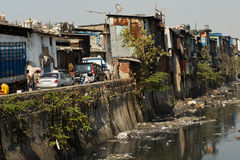 Dharavi Slums of Mumbai, India Stock Image