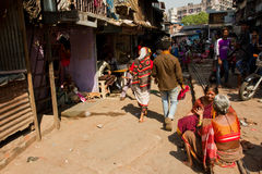 Dharavi Slums of Mumbai, India Royalty Free Stock Images