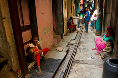 Dharavi Slums of Mumbai, India Royalty Free Stock Photos