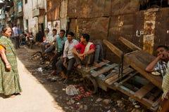 Dharavi Slums of Mumbai, India Stock Photos