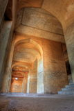 Dharbar Hall arches and detail, Golkonda Fort stock photo