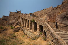 Dharbar Hall, Golconda Fort, Hyderabad Lizenzfreies Stockbild