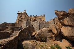Dharbar Hall, Golconda Fort, Hyderabad royalty free stock image
