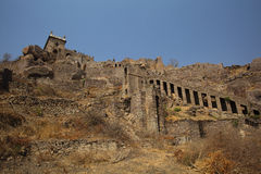 Dharbar Hall and Stairs, Golconda Fort, Hyderabad Royalty Free Stock Photo