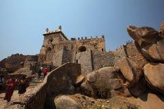 Dharbar Salão, forte de Golconda, Hyderabad Imagem de Stock Royalty Free