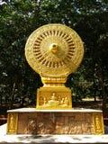 Dharma-cakra imagen de archivo libre de regalías